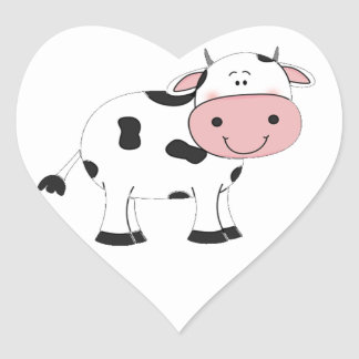 Holy Cow Heart Sticker