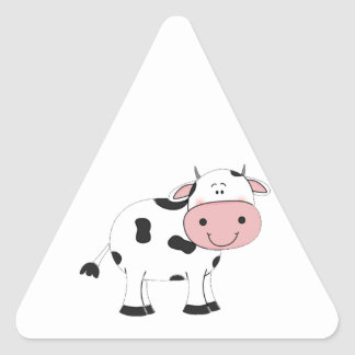 Holy Cow Triangle Sticker