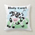 Holy Cow Throw Pillows