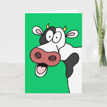 Holy Cow You're 80! Funny 80th Birthday Card