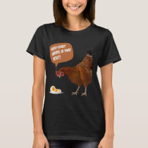 Holy Crap! Funny Chicken and Egg 3D Gift T-Shirt