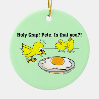 Holy Crap! Pete, is that you? Double-Sided Ceramic Round Christmas Ornament