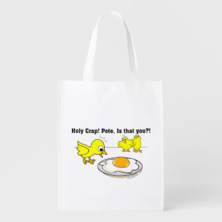 Holy Crap! Pete, is that you? Reusable Grocery Bags