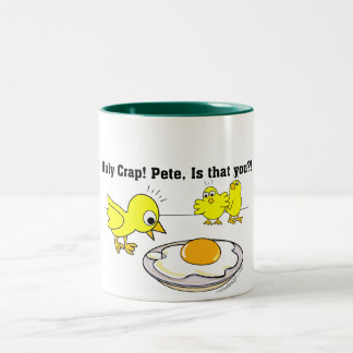 Holy Crap! Pete, is that you? Two-Tone Coffee Mug