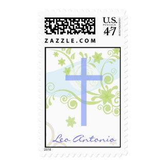 Holy Cross Baptism Christening Stamp Postage