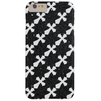 Holy Cross black shiny glitter iPhone 6 Plus case