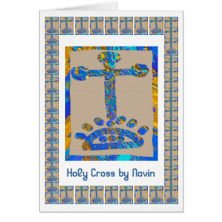 Holy Cross -  Holy Temple 3D Engraved Art Card