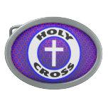 Holy Cross Oval Belt Buckle