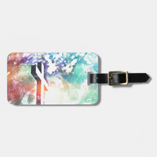 Holy Cross Pastel Distressed Bag Tag
