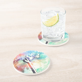 Holy Cross Pastel Distressed Beverage Coaster