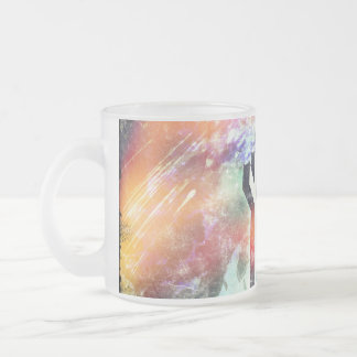 Holy Cross Pastel Distressed Frosted Glass Coffee Mug
