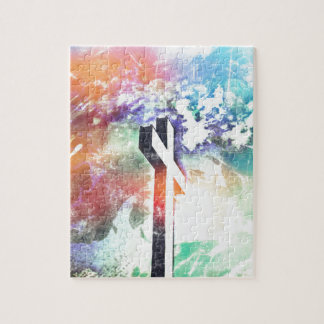 Holy Cross Pastel Distressed Jigsaw Puzzle