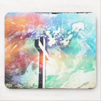 Holy Cross Pastel Distressed Mouse Pad