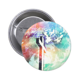 Holy Cross Pastel Distressed Pinback Button