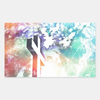 Holy Cross Pastel Distressed Rectangular Sticker