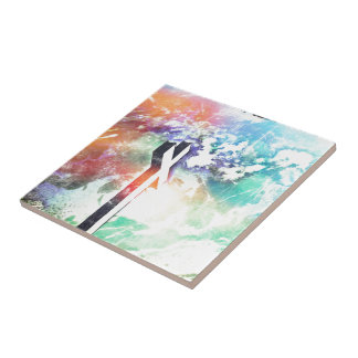 Holy Cross Pastel Distressed Tile