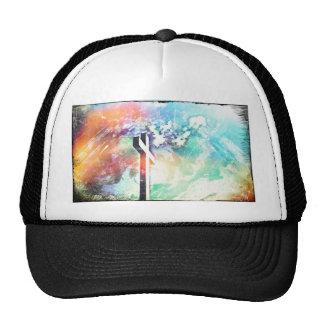 Holy Cross Pastel Distressed Trucker Hat