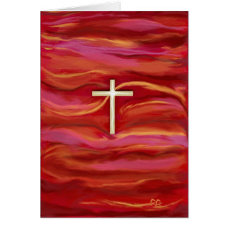 HOLY CROSS Postage Greeting Card