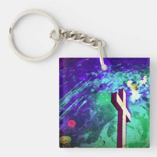 Holy Cross Purple Key Chain