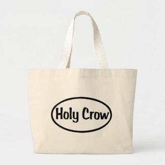 Holy Crow Oval Canvas Bag