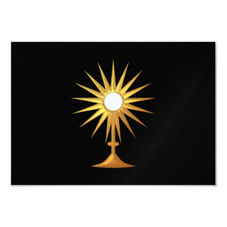 Holy Eucharist in golden Monstrance Card