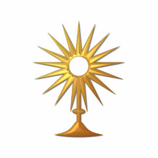 Holy Eucharist in golden Monstrance Cutout
