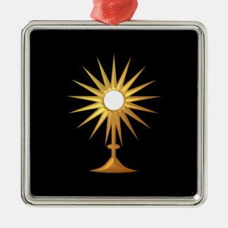 Holy Eucharist in golden Monstrance Christmas Ornament