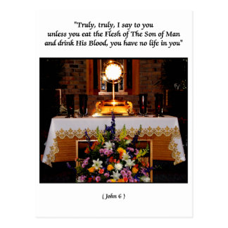 Holy Eucharist / The Blessed Sacrament Postcard