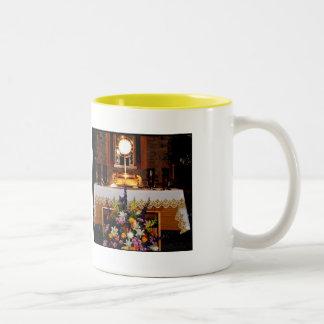 Holy Eucharist / The Blessed Sacrament Two-Tone Coffee Mug