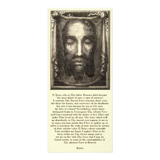 Holy Face of Jesus Devotional Holy Card Rack Card Template