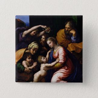 Holy Family , 1518 Pinback Button