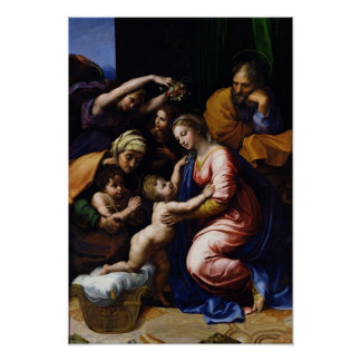Holy Family , 1518 Poster