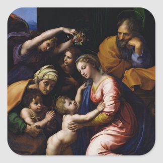 Holy Family , 1518 Square Sticker