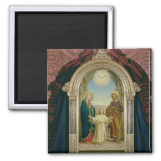 Holy Family, 1898 (tempera on panel) 2 Inch Square Magnet