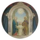 Holy Family, 1898 (tempera on panel) Dinner Plate