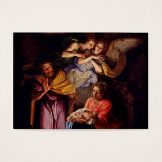 Holy Family and Angels by Coypel Business Card