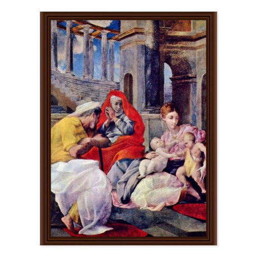 Holy Family And St. Elizabeth By Tibaldi Pellegrin Post Card