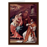 Holy Family And St. Ignatius Of Loyola By Ricci Se Card