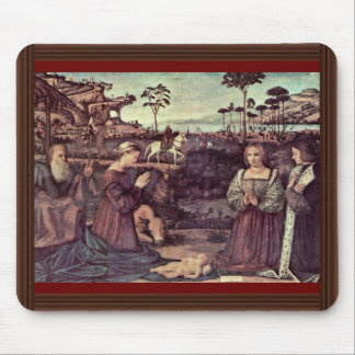 Holy Family And Two Donors In Adoration Mousepad