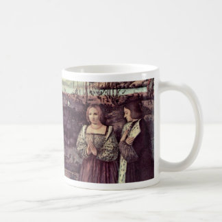 Holy Family And Two Donors In Adoration Mug