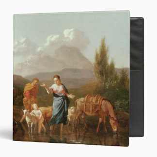 Holy family at a stream 3 ring binder
