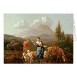Holy family at a stream card