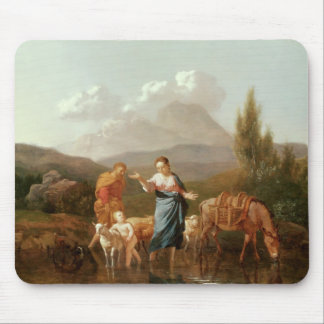 Holy family at a stream mouse pad