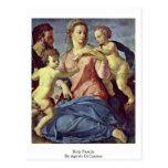 Holy Family By Agnolo Di Cosimo Postcard