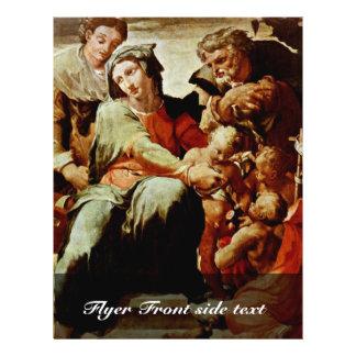 Holy Family, By Tibaldi Pellegrino (Best Quality) Custom Flyer