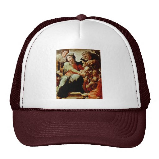 Holy Family, By Tibaldi Pellegrino (Best Quality) Trucker Hats