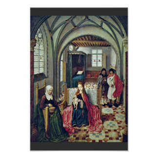 Holy Family In The Room With Anna And Joachim By N Poster
