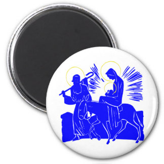 Holy Family 2 Inch Round Magnet