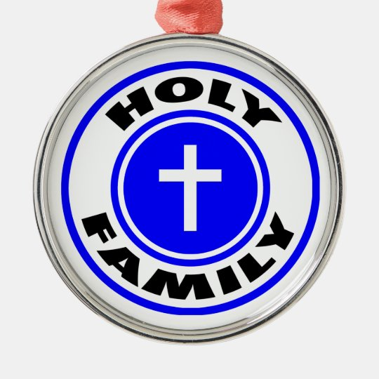 Holy Family Metal Ornament