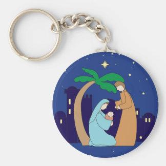 Holy Family Nativity Christmas Christian Religious Keychain